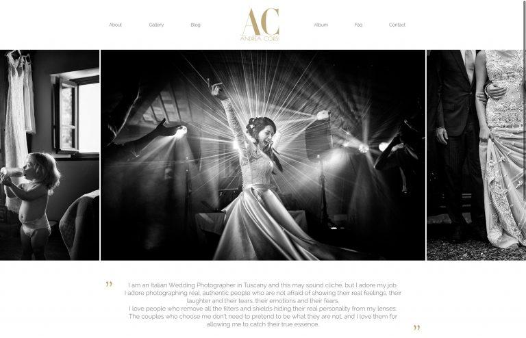 Realizzazione sito web per fotografo professionista Andrea Corsi
