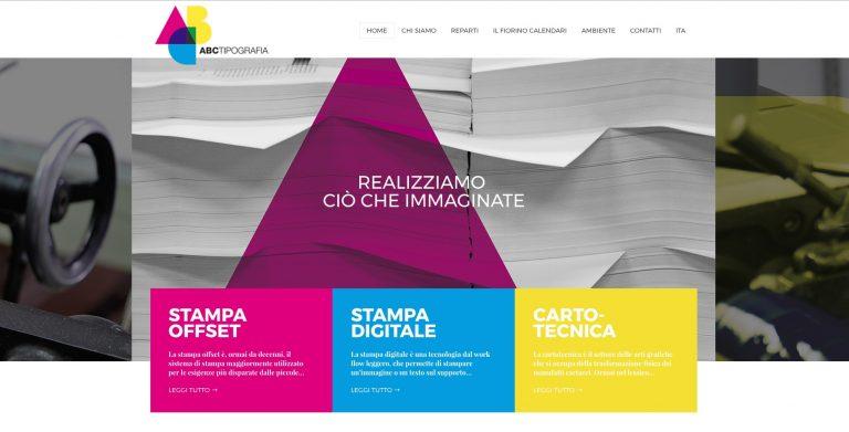Realizzazione sito web per tipografia ABC Firenze