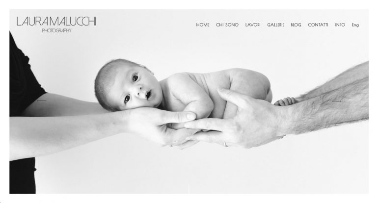 Web site per fotografo professionista - Laura malucchi